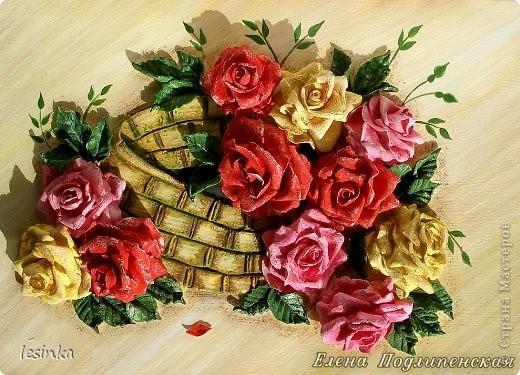 Розы из соленого теста фото