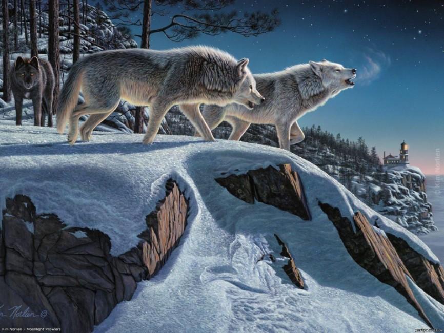 волки на картинах:
